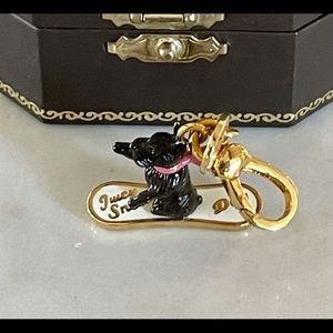Juicy Couture Rare Scottie Dog Charm On Skateboard